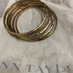 Five AnnTaylor bracelets.